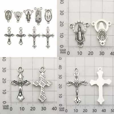 100G 60Pcs Antique SILVER Cross Jesus Maria Our Lady Miraculous C Mary & Home