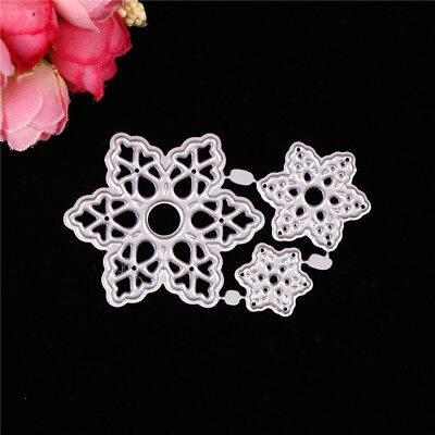 Snowflake Greeting Cards Cutting Dies Stencil Scrapbook Paper Cards CraftSC