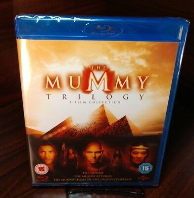 The Mummy Trilogy (Blu-ray,3-Disc Set)Brand NEW-Free Shipping with Tracking