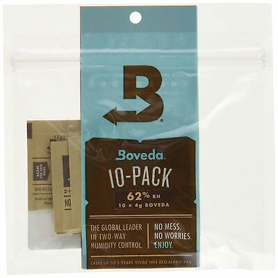 Boveda 62% RH, 2-Way Humidity Control 10-Pack Unwrapped Packs (4 grams each) in