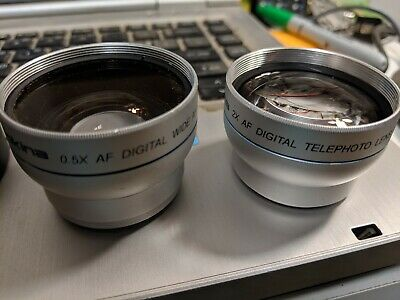 Tokina Camera Video Digital Lens 2X Telephoto + wide angle + 37MM->34mm ring
