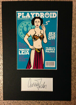 Carrie Fisher-Princess Leia - NUDE ! STAR WARS - *RARE* PLAYDROID MAGAZINE COVER