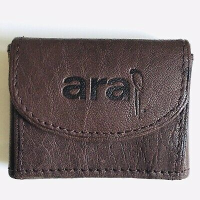Brown Leather Coin Purse Wallet Argentina New FREE SH
