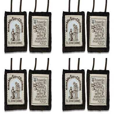 Official Our Lady Of Mount Carmel BROWN Scapular 100% Wool FREE SHIPPING