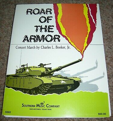 CONCERT BAND SHEET music Roar of the Armor march by Charles L  Booker Jr  Grade 3