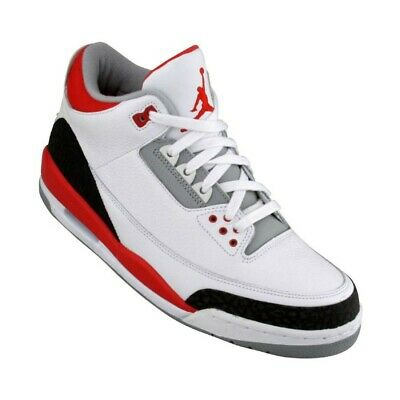 the best attitude a5378 2e426 834014-161 Nike Air Jordan III 3 Retro Fire Red Cement GS Bid Kids 2007