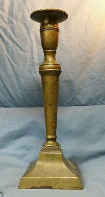 "Antique Anderson Brass Foundry Candlestick Holder approx 9"" Tall"