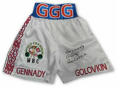 Gennady Golovkin GGG Hand Signed Autographed White WBC Trunks Full Signature