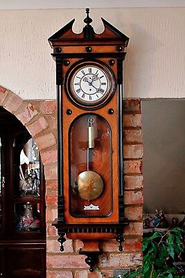 Antique German 'SCHUTZ MARKE, HE & Co' Single Weight Vienna Wall Clock 1874