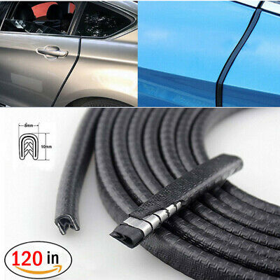 "120"" Car Door Seal Strip Rubber Weatherstrip Protector Edge Trim Guard Pinchweld"