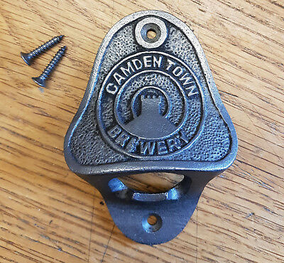 Cast Iron Wall Mounted Vintage Antique Style Bottle Opener CAMDEN TOWN BREWERY