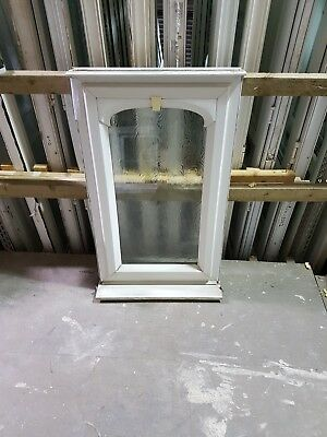 WINDOW UPVC Double Glazed WHITE Frame+Glass /& Handle 820mmX450mm-Made To Measure