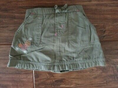 Marks & Spencer (M & S) Girl's Green Skirt with Embroidered Flowers (6 - 9 mths)