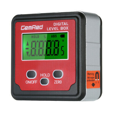 GemRed Level Box Angle Gauge Digital Angle Finder Inclinometer Level Gauge B3K9