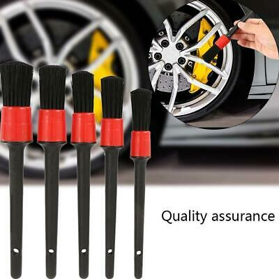 1Set Detailing Brush Cleaning Natural Boar Hair Brushes Car Auto Detail Tools