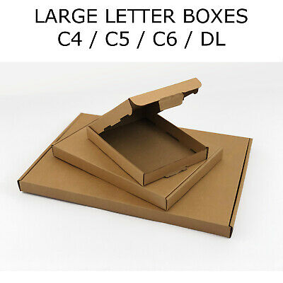 Royal Mail Large Letter A6 A5 A4 DL Cardboard Postal Mailing PiP Boxes RM