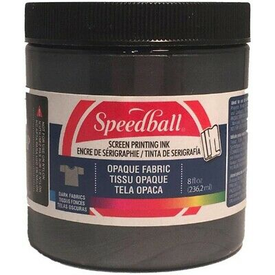 Opaque Fabric Screen Printing Ink 8 Ounces-black Pearl