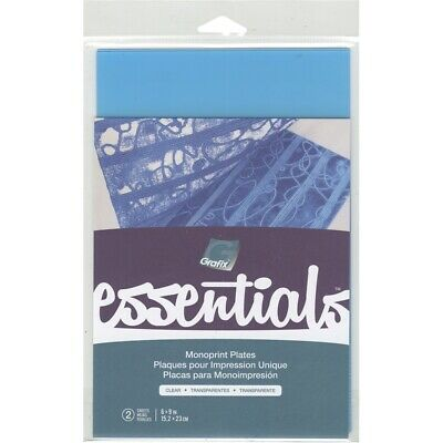 "Grafix Essentials Monoprint Plate 6""x9"" 2/pkg-clear .030"""