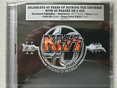 """Kiss, """"40 Years, Decades Of Decibels"""". Double Cd Set. New And Sealed !"""