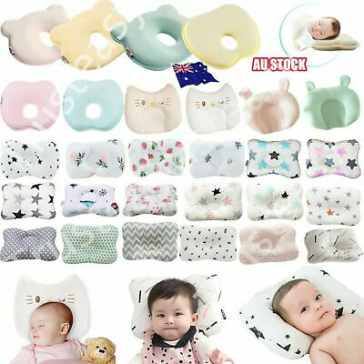 Baby Infant Cot Pillow Preventing Flat Head Neck Syndrome for newborn Girl Boy T