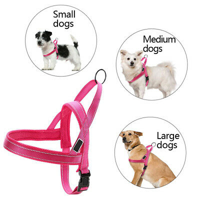 Adjustable Dog Harness Small Medium Large Car No Pull Handle Front Vest Leading
