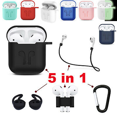 5 in 1 AirPods Case Kits Protective Silicone Apple Case Cover for Charging Case