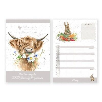 Wrendale Designs A3 Family Calendar 2020 - The Country Set Wall Planner