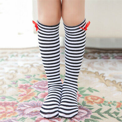 b3d74e6df Infants Toddler Baby Kids Girls Knee High Socks Cotton Bow Tights Leg  Stocks 8C