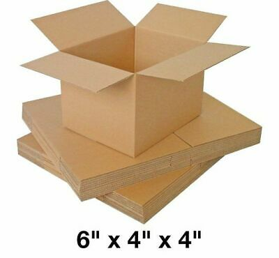SINGLE WALL CARDBOARD MAILING BOXES 6x4x4 PACK OF 25