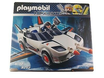 NEW//BOXED//SEALED PLAYMOBIL TOP AGENTS AGENT P WITH RACER 9252