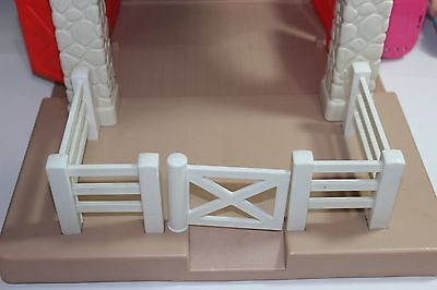 HTF Vintage Little Tikes Horse Stable Dollhouse Replacement Parts WHITE FENCE