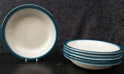 """Wedgwood Blue Pacific Soup/Cereal/Dessert Bowls 7¼"""" X 6"""