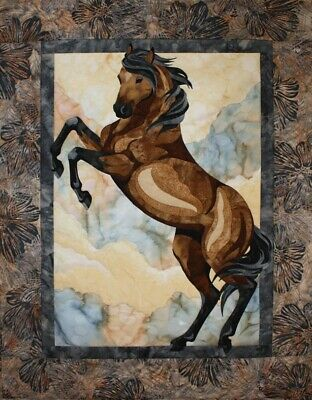 The Guardian Toni Whitney Horse Quilt Pattern and Fabric Kit Applique