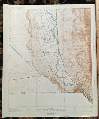 USGS Topographic Map 1919 Data CANUTILLO QUADRANGLE, NEW MEXICO-TEXAS