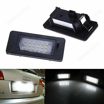 2x Audi TT Q5 A1 A3 A4 S4 B8 A5 S5 A6 A7 Canbus LED License Number Plate Light