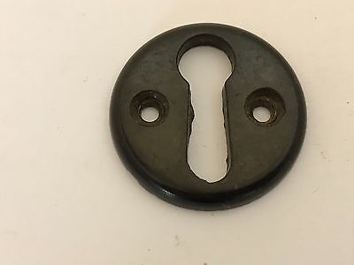 Art Deco Brown Bakelite Escutcheon Cupboard Door Box 3.0cm Diameter Salvage 16