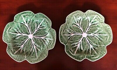 "Bordallo Pinheiro Portugal CABBAGE GREEN 10.5"" Dinner Plate"
