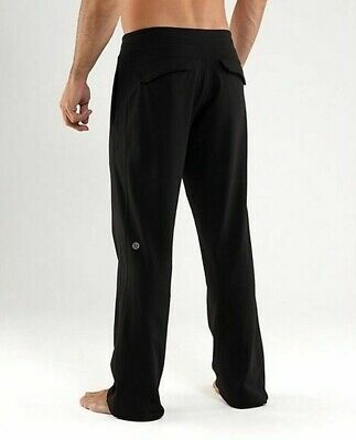 dbb5ee3703 Lululemon Mens Kung Fu Pant Gym Yoga Sweatpants Lounge Athletic Black L Reg