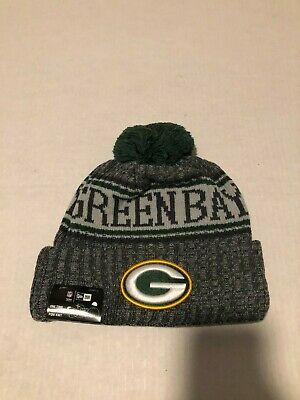 ee1e7d2cce8 Green Bay Packers New Era 2018 NFL Sideline Sport Knit Hat – Graphite NWT