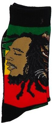 Men's Rasta Lion of Judha Ganja Leaf Baby Rasta Crew Sock's