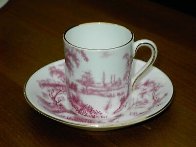 Royal Tuscan Fine Bone China Pink Coffee Can & Saucer / Espresso Cup Free UK P&P