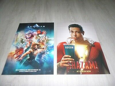 Aquaman Imax & Shazam Odeon A3 Posters (New) Dc Jason Momoa Justice League