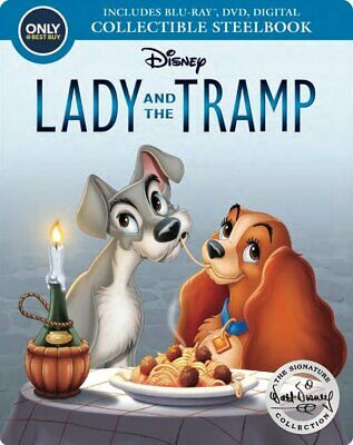 New! Lady and the Tramp [Signature Collection] [SteelBook] Blu-ray / DVD 1955