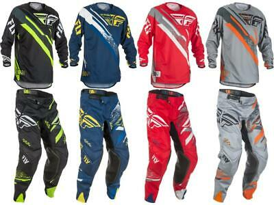 New Fly Racing Mens Evolution 2.0 Jersey /& Pants Combo Set MX Riding Gear Red//Grey, Adult Small // 32
