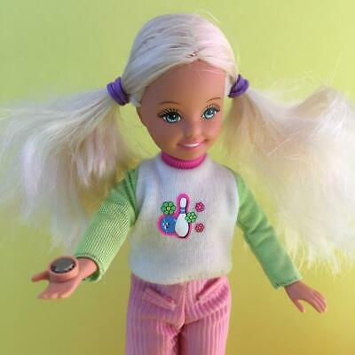 Vintage Mattel Barbie Little Sister Teenager Girl Bowling Party Stacie Doll 90s