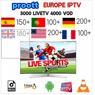 6 Month Account Smart Tv /Mag/Enigma/Android .Live Ch & Vod&