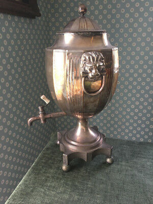 Antique Silver plated Country House Tea Urn of Wine Urn in George III style