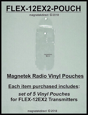 Magnetek FLEX-12EX2-pouch clear vinyl pouch for radio remote control transmitter