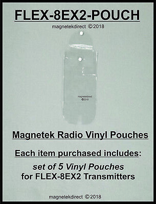 Magnetek FLEX-8EX2-pouch vinyl clear pouch for radio remote control transmitter