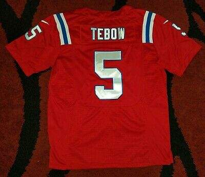 reputable site d8ae1 223b0 NIKE ON FIELD New England Patriots Tim Tebow #5 Alternate Jersey Men Size 44